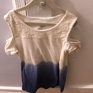 Justice white and blue size 12 shirt
